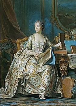 Portrait en pied de la marquise de Pompadour Maurice Quentin de La Tour