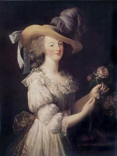 Marie Antoinette in a Muslin dress  Louise Vigée Le Brun