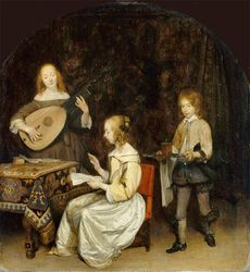 Gerard ter Borch The Concert 1657 Louvre, Paris
