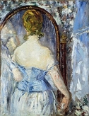 マネ 鏡の前 Before the Mirror, Edouard Manet, (1876)
