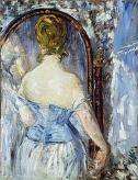 マネ 鏡の前 Before the Mirror, Edouard Manet, (1876)