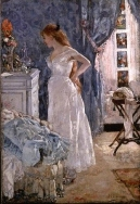 「La Toilette」(身づくろい 1879)  アンリ・ジェルベクス(Henri Gervex 1852-1929)
