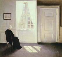 Vilhelm Hammershøi  A Woman Reading A Window