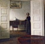 Vilhelm hammershoi - Interior with Plant. Bredgade 25, 1911, Malmo Art Museum, Malmo, Sweden