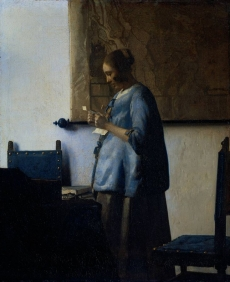 Johannes Vermeer - Woman  Reading A Letter, c.1657-1664, Rijksmuseum, Amsterdam