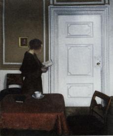 Vilhelm Hammershoi - Ida Reading. Strandgade 30, 1909, Sonderjylland Museum, Kunstmuseet Brundlandslot, Aabenraa