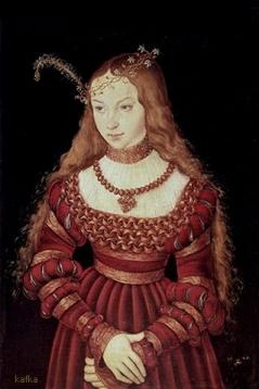 Lucas Cranach the Elder Princess Sybille of Cleves ca. 1526 Schlossmuseum, Weimar