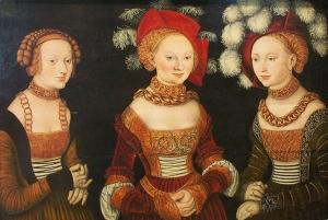 Porträt der Herzoginnen Sybille, Emilla und Sidonia von Sachsen 1535