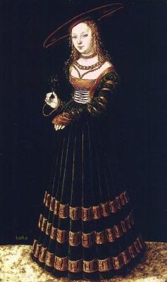 Portret Dziewczyny z niezapominajkami(The Princess) 1526 Lucas Cranach the Elder