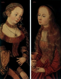 Cranach the Elder, Lucas - St Catherine of Alexandria and St Barbara - Renaissance