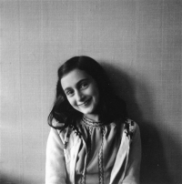 Anne Frank poses in 1941 in this photo made available by Anne Frank House in Amsterdam, Netherlands