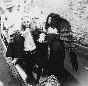レオノール・フィニ ラビア宮殿 仮面舞踏会 1951 palazzo sul Canal Grande Venezia, Palazzo Labia, 3 settembre 1951.Leonor Fini e Fabrizio Clerici