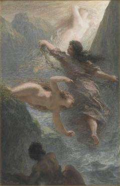 lOr du Rhin ou souvenir de Bayreuth pastel, 1876,musée d'Orsay
