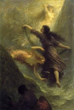 O Ouro do Reno ou Primeira Cena de ?O Ouro do Reno?1888,Hamburger Kunsthalle