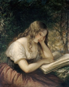 Daniel Huntington - Woman Reading
