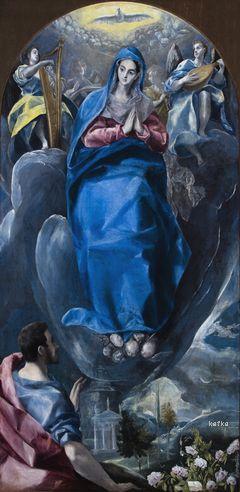 Domenikos Theotokópoulos, el Greco. Inmaculate seen by St. John, c. 1585 Church of Saint Leocadia and Saint Román