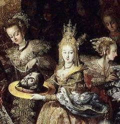 Bartholomeus Strobel  Salome−Degollación de San Juan Bautista y banquete de Herodes Museo del Prado