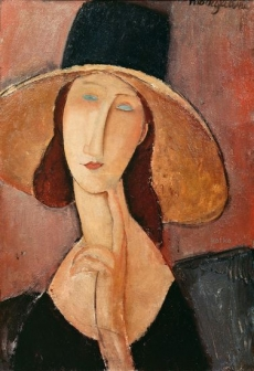 Jeanne Hebuterne in a Large Hat 1918