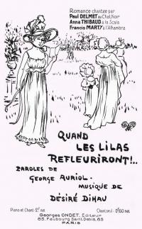 romance créée par Paul Delmet au Chat-Noir (1890)