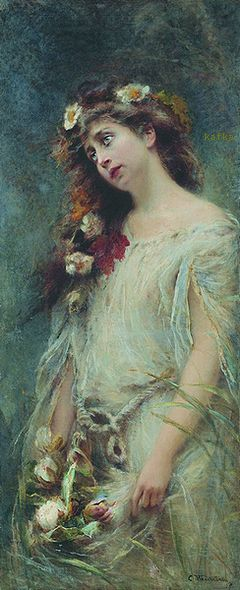 Konstantin Egorovich Makovsky (1839-1915) - Ophelia
