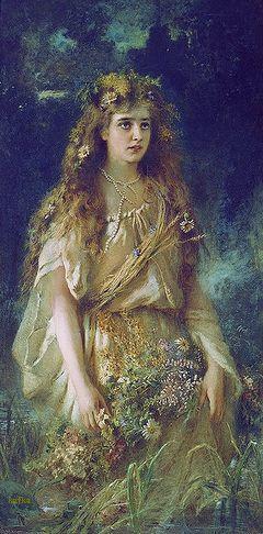 Konstantin Egorovich Makovsky (1839-1915) Ophelia