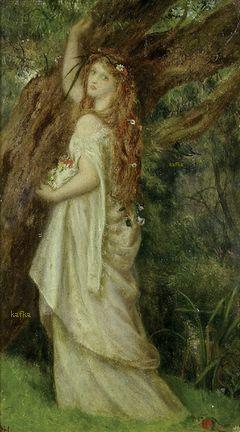 Arthur Hughes (1832 - 1915): Ophelia Ashmolean Museum
