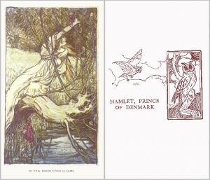 Hamlet,Prince of Denmark  Lamb, Charles & Mary Tales from Shakespeare London, 1909