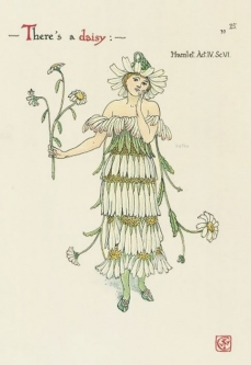 Walter Crane, Daisy , Flowers from Shakespeares Garden, 1906