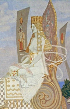 John Duncan  The Queen of Sheba  detail  British Museum