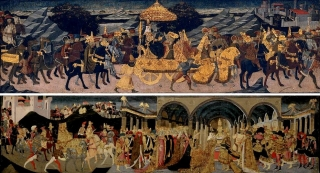 Journey of the Queen of Sheba,Meeting of Solomon and the Queen of Sheba. Apollonio di Giovanni di Tomaso Marco del Buono di Marco Museum of Fine Arts, Boston
