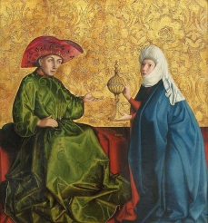 Conrad Witz: The Queen of Sheba with King Solomon(Konrad Witz, The Queen of Sheba with King Solomon), 1435-37