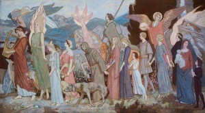 "John Duncan  ""The Masque of Love"" Aberdeen Art Gallery & Museums"