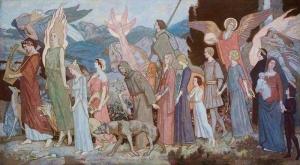 """John Duncan  """"The Masque of Love"""" Aberdeen Art Gallery & Museums"""