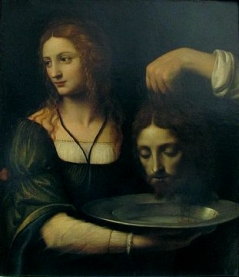 Bernado Luini - Salome holding the head of St. John The Baptist