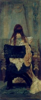 Dame am Spinett 1871 by Hans Makart  Austrian Gallery Belvedere