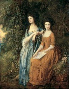 Thomas Gainsborough (1727-1788), Elizabeth and Mary Linley-The Linley Sisters. 1771-72, probably partly repainted. 1785 The Trustees of Dulwich Picture Gallery