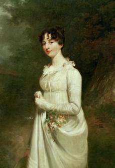Portrait féminin peint vers 1810 par Sir William Beechey