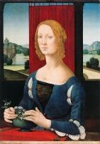 Musei di San Domenico, lorenzo di credi, dama dei gelsomini 1485-90.Lorenzo di Credi