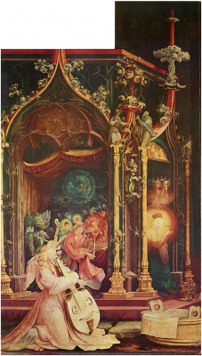 Isenheim Altarpiece, formerly the main altarpiece of the Antonine in Isenheim / Alsace, second show side, middle image: the birth of Christ