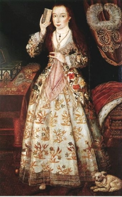 Elizabeth Vernon, Countess of Southampton, bei der Toilette
