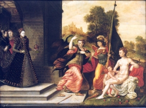 Hans Eworth, Elizabeth I and the Three Goddesses, 1569