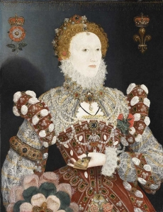 c 1575 Queen Elizabeth I 1533-1603 The Pelican Portrait, attr to Nicholas Hilliard.