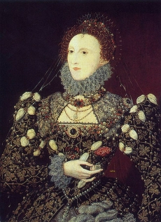 The 'Phoenix' portrait of Queen Elizabeth I (1533-1601) associated to Nicholas Hilliard (1547-1619) Oil on panel, c.1575