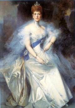 フランソワ・フラマン 1899 アレクサンドラ王妃の肖像