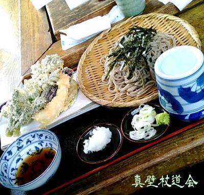 タラの芽の天ぷらと、美味しい蕎麦。