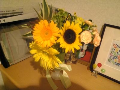 引退を飾るお花