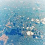 飛行機から見たロシアとフィンランドとの国境付近