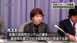 静岡放射能汚染測定室 代表 馬場利子氏