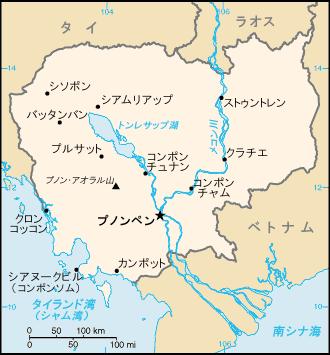 カンボジア・ベトナム地図