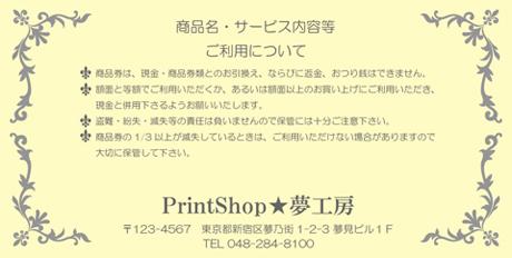 金券印刷【Kinken裏2002】金券デザイン